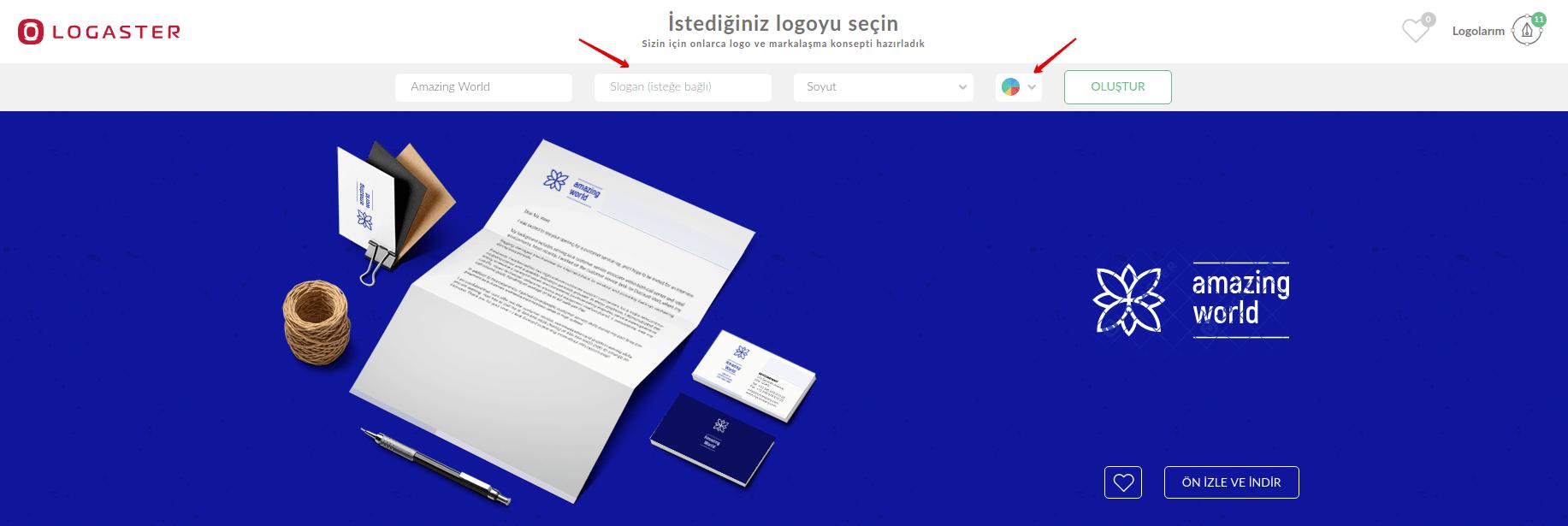 Favori Logo Seçme Logaster