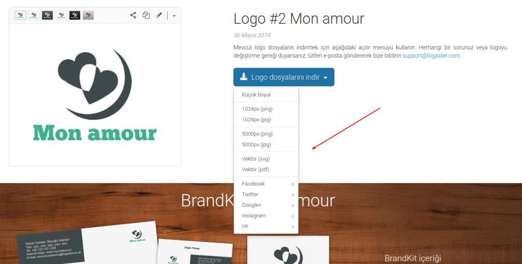 choose logo format to download
